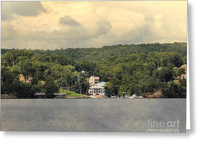 Lake House Greeting Cards - The Houses of Pickwick III  Greeting Card by Jai Johnson
