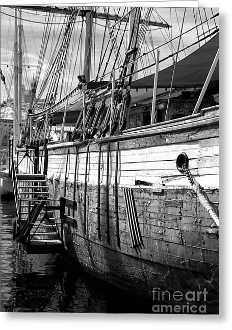 Sailboat Photos Greeting Cards - The Hull Greeting Card by John Rizzuto