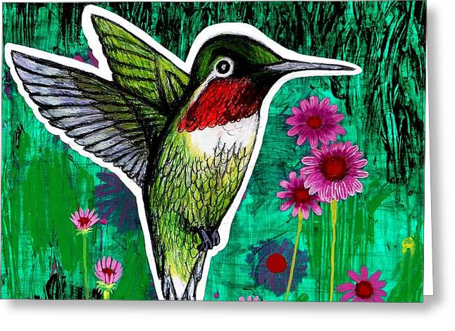 Stl Greeting Cards - The Hummingbird Greeting Card by Genevieve Esson