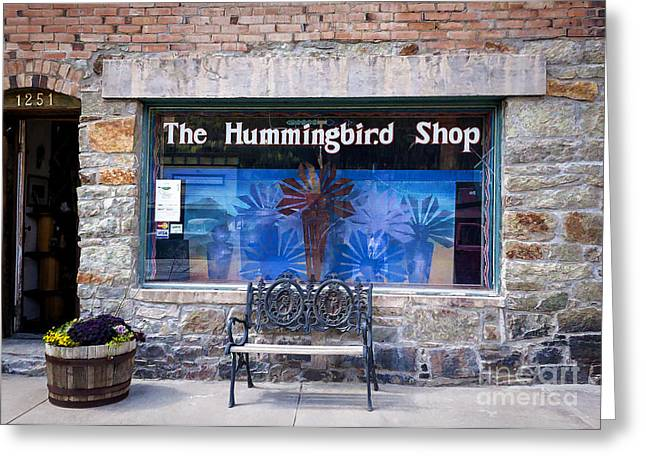 Historic Country Store Greeting Cards - The Hummingbird Shop Greeting Card by Janice Rae Pariza