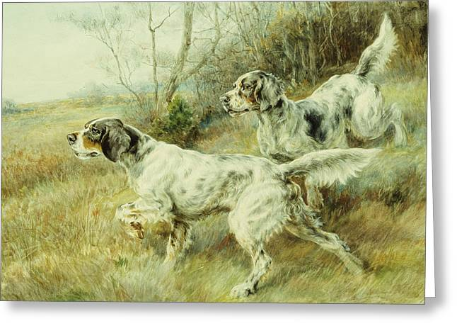 Two Animals Greeting Cards - The Hunt Greeting Card by Edmund Henry Osthaus