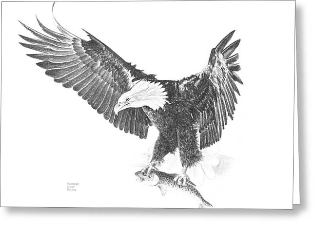 Wild Life Drawings Greeting Cards - The Hunt Greeting Card by Parampreet Grewal