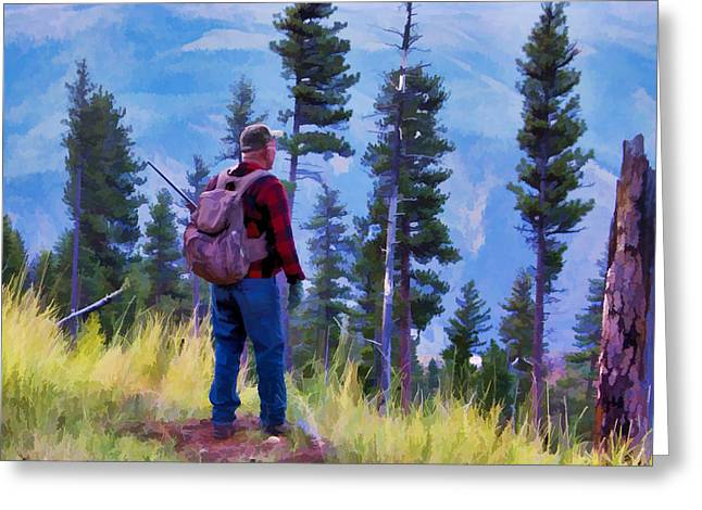 Ron Roberts Photography Greeting Cards - The Hunter Greeting Card by Ron Roberts