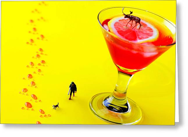 The hunting little people big worlds Greeting Card by Paul Ge