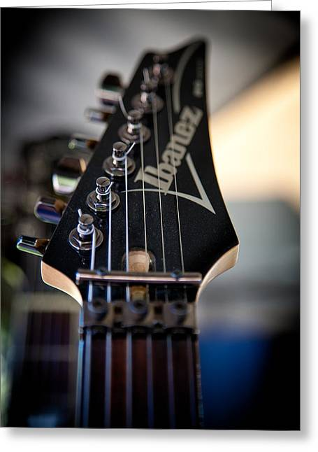 The Kingpins Greeting Cards - The Ibanez Guitar Greeting Card by David Patterson