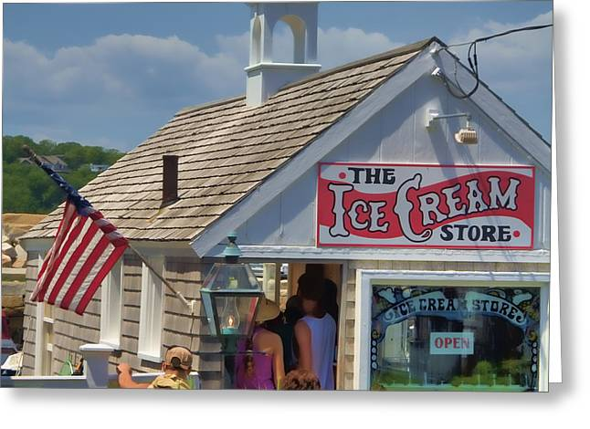 American Food Greeting Cards - The Ice Cream Store Greeting Card by Joann Vitali