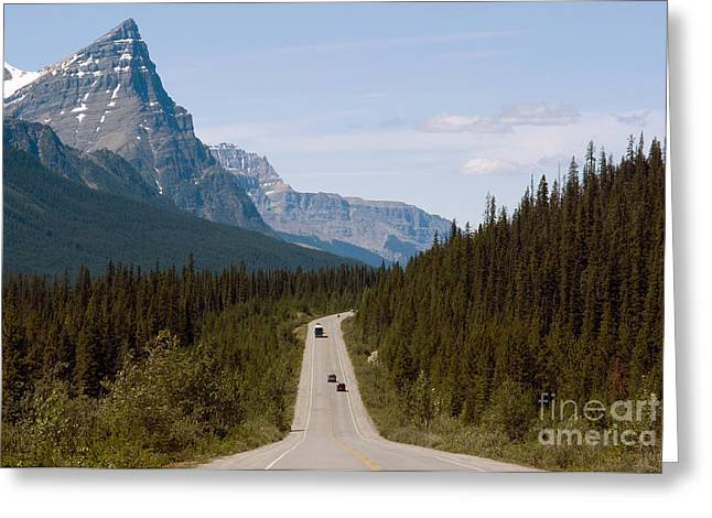 Mountain Valley Greeting Cards - The Icefields Parkway Greeting Card by Rafael Macia