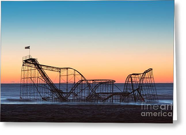 Jet Star Roller Coaster Greeting Cards - The iconic Star Jet Roller Coaster Greeting Card by Michael Ver Sprill