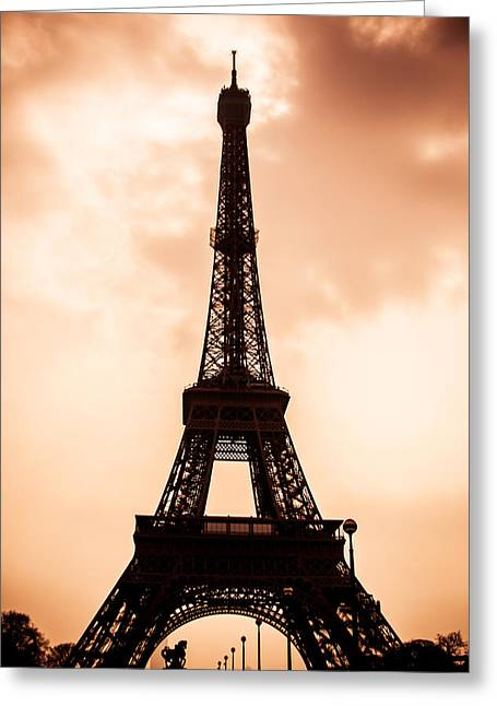 Industrial Icon Photographs Greeting Cards - The Iconic Tower Greeting Card by Nila Newsom