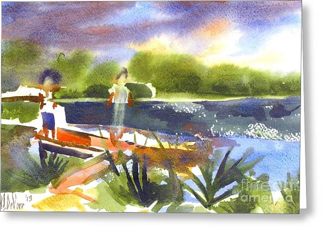 A Summer Evening Greeting Cards - The Ideal Catch Greeting Card by Kip DeVore