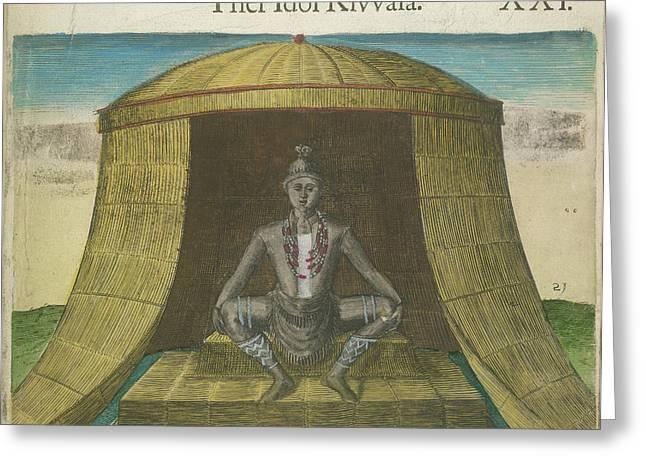 The Idol Kivvasa Greeting Card by British Library