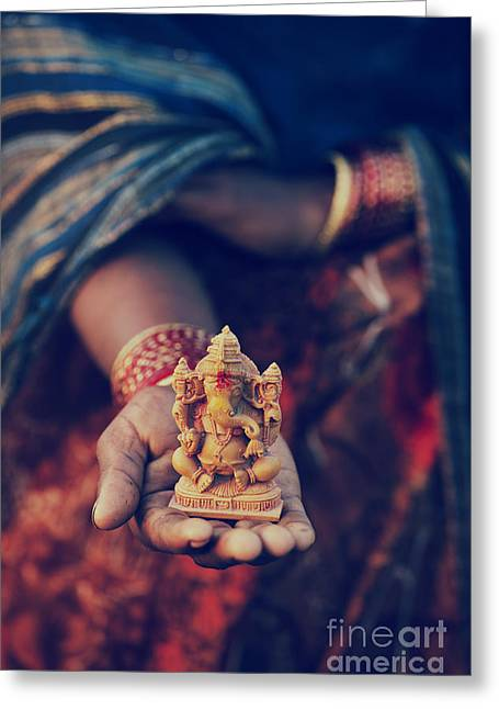 Ganapati Greeting Cards - The Idol Greeting Card by Tim Gainey