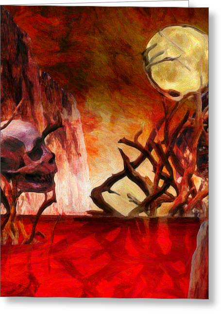 Macabre Digital Art Greeting Cards - The Illusion of Desire  Greeting Card by Jacob King