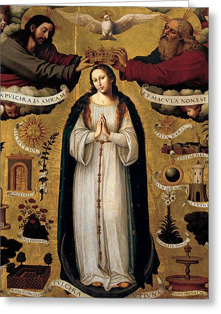 Juanes Greeting Cards - The Immaculate Conception Greeting Card by Juan de Juanes