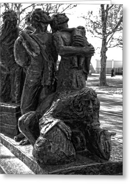 Land Of The Free Greeting Cards - The Immigrants Statue In New York City Greeting Card by Dan Sproul