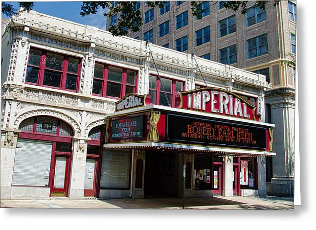 Theater Greeting Cards - The Imperial Theater Greeting Card by Ed Waldrop
