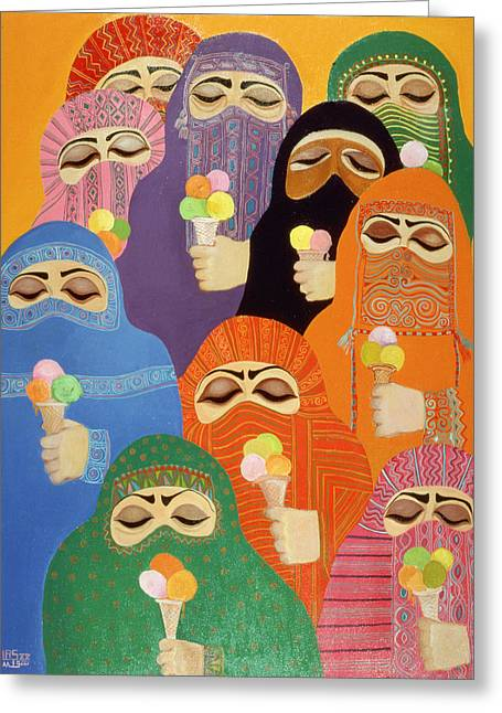 The Impossible Dream, 1988 Acrylic On Board Greeting Card by Laila Shawa