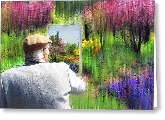 Spring Digital Art Greeting Cards - The Impressionist Painter Greeting Card by Jessica Jenney