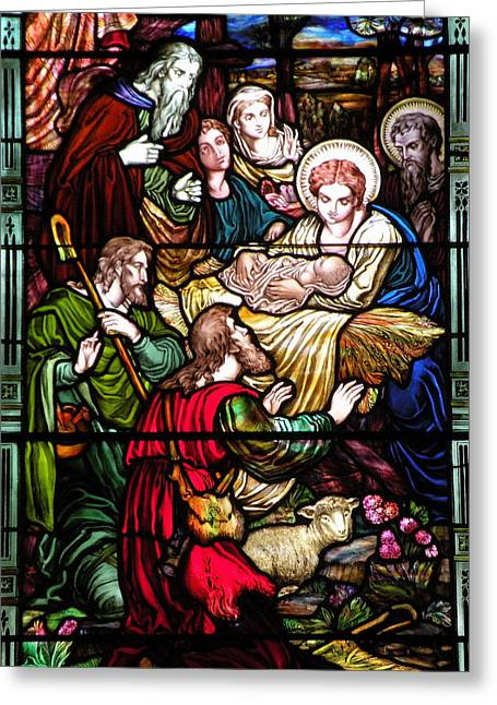 Religious Greeting Cards - The Incarnation - Madonna and Child Greeting Card by Kim Bemis
