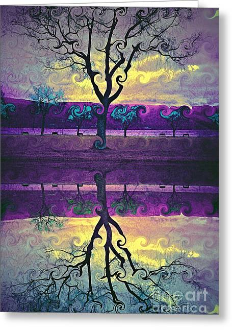 Distortion Greeting Cards - The Inconsistent Tree Greeting Card by Tara Turner