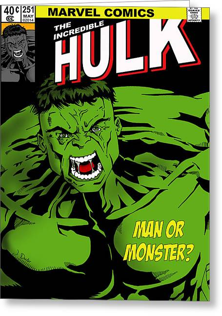 Flash Greeting Cards - The Incredible Hulk Greeting Card by Mark Rogan