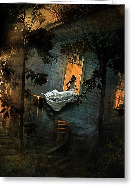 Haunted Digital Art Greeting Cards - The Indentured  Greeting Card by Ethan Harris
