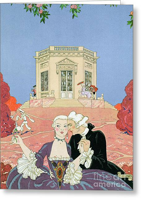 Lovers Greeting Cards - The Indolents Greeting Card by Georges Barbier