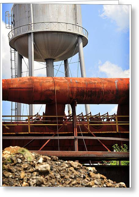 Public Water Supply Greeting Cards - The Industrial Dream  Greeting Card by Davina Washington