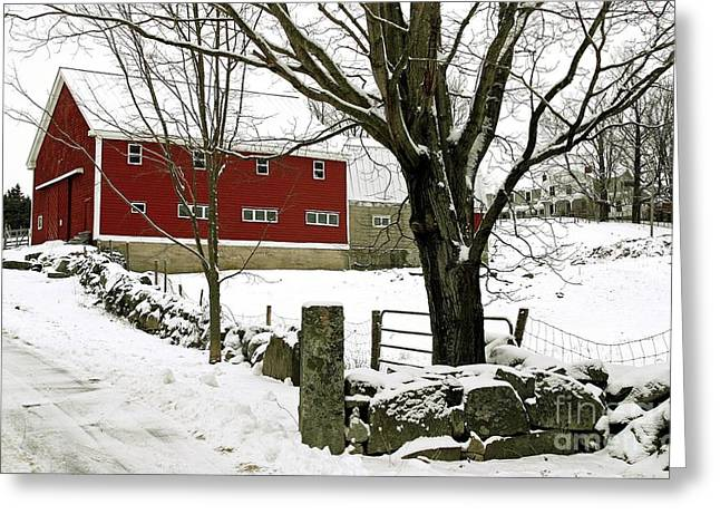 Best Sellers -  - Maine Farmhouse Greeting Cards - The Inn Greeting Card by Laura Mace Rand