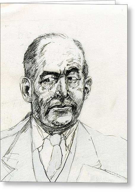 C.s Lewis Greeting Cards - The Inner C S Lewis Greeting Card by Whistler Kenworthy