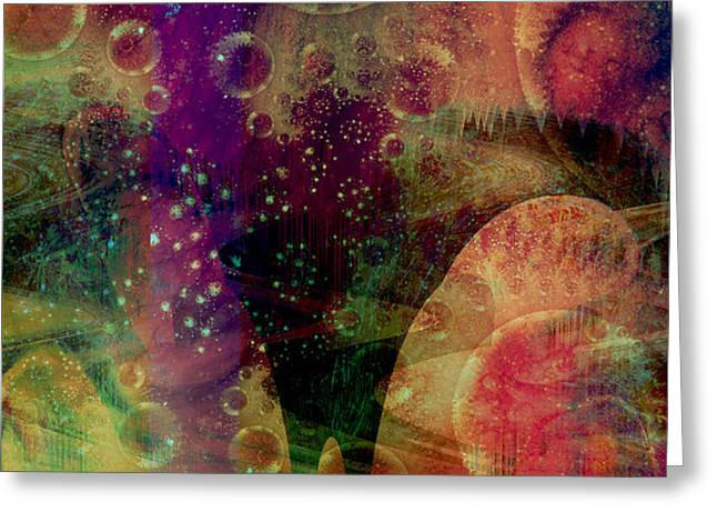 Inner Space Greeting Cards - The Inner Planets Greeting Card by Linda Sannuti