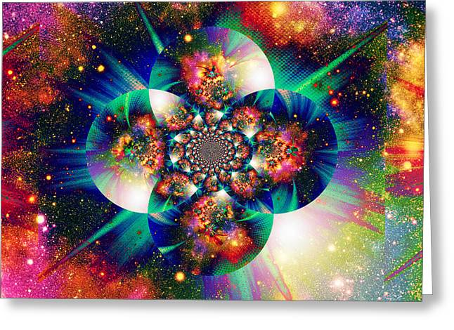 Mind Of God Greeting Cards - The Inscrutable Mind Of God III Greeting Card by Aurelio Zucco