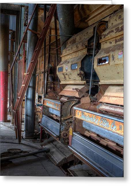 The Inside Of A Cotton Gin Greeting Card by JC Findley