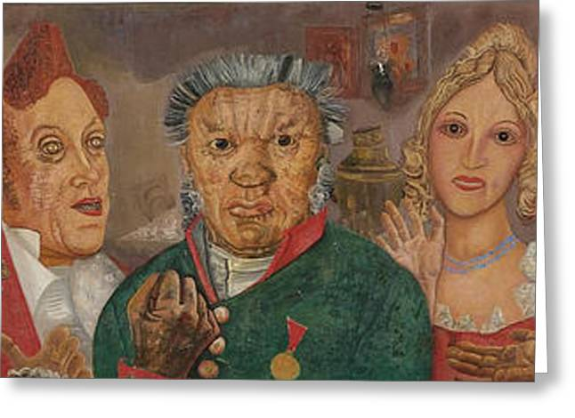 Orthodox Paintings Greeting Cards - The Inspector General Greeting Card by Boris Grigoriev