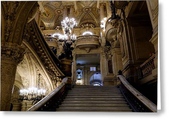 Ballet Of Colors Greeting Cards - The Interior Beauty Of the Palais Garnier In Paris France Greeting Card by Richard Rosenshein