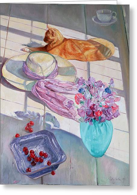 Tom Cat Greeting Cards - The Interloper Greeting Card by Timothy  Easton