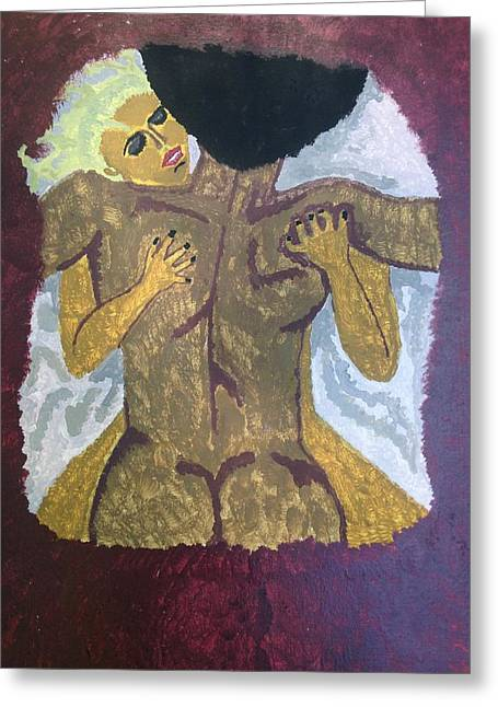 Interracial Love Greeting Cards - The Introduction Greeting Card by Stiven Williams