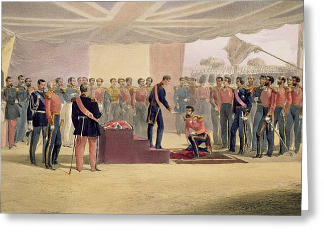 The Investiture Of The Order Greeting Card by William 'Crimea' Simpson
