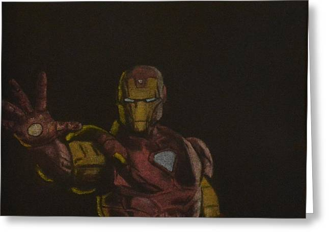 Iron Pastels Greeting Cards - The Invincible Iron Man Greeting Card by Will Dudley