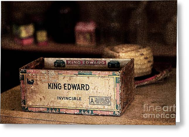 Warm Tones Photographs Greeting Cards - The Invincible King Edward Cigar Greeting Card by T Lowry Wilson