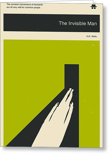 Invisible Greeting Cards - The Invisible Man Greeting Card by Jazzberry Blue