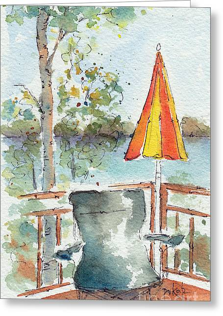 Lawn Chair Greeting Cards - The Invitation - Cropped Greeting Card by Pat Katz
