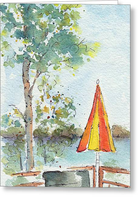 Lawn Chair Greeting Cards - The Invitation Greeting Card by Pat Katz