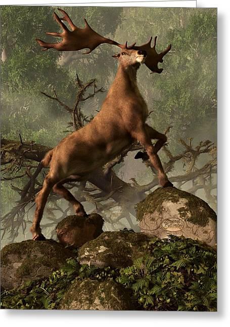 Daniel Eskridge Greeting Cards - The Irish Elk Greeting Card by Daniel Eskridge
