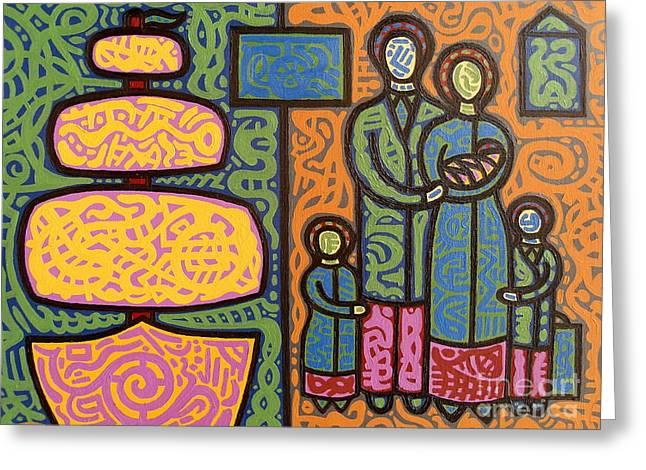 Potato Print Paintings Greeting Cards - The Irish Famine Greeting Card by Patrick J Murphy