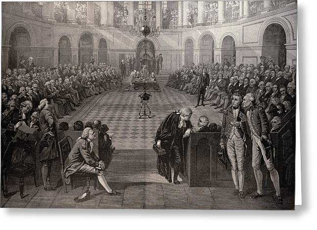 Parliament Greeting Cards - The Irish House Of Commons, Ad 1790, College Green, Dublin, From The Illustrated London News, 4th Greeting Card by Henry Barraud