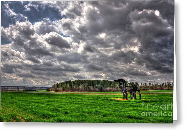 Hdri Greeting Cards - The Iron Horse on a Cloudy Day Greeting Card by Reid Callaway
