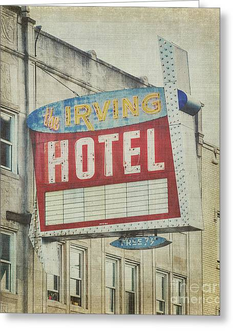 Irving Greeting Cards - The Irving Hotel in Chicago Greeting Card by Emily Enz
