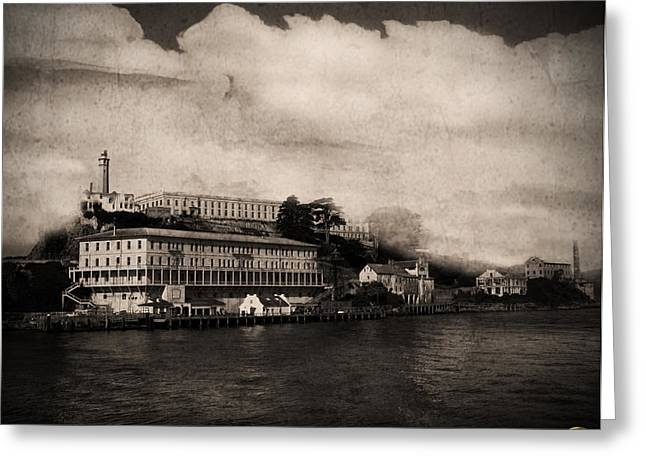 Alcatraz Lighthouse Greeting Cards - The Island Greeting Card by Dale Simmons