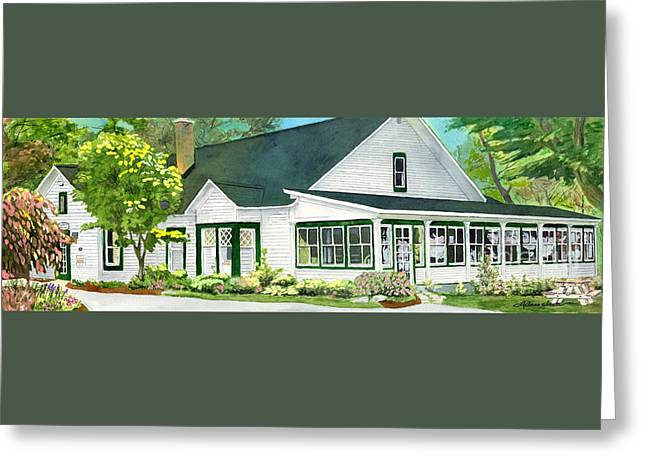 Elk Rapids Greeting Cards - The Island House Greeting Card by LeAnne Sowa
